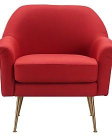 Elle Décor Ophelia Lounge Chair, Quick Ship
