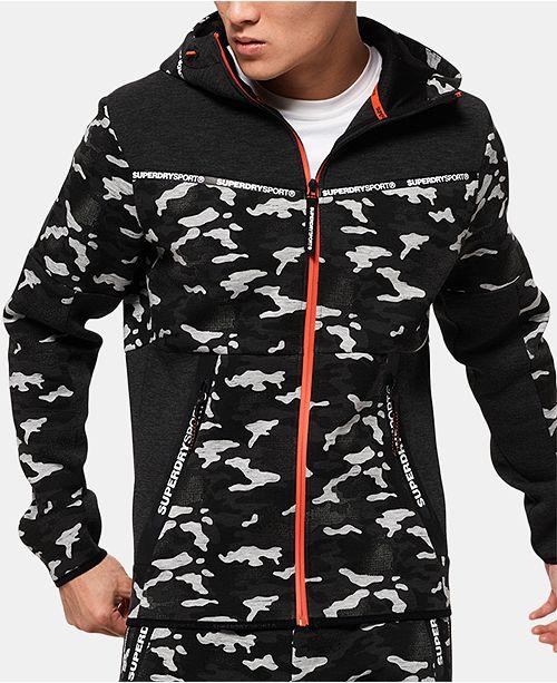 Superdry Men's Zip-Front Camo Hoodie, Created for Macy's