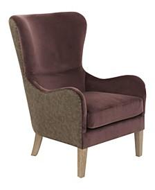 Elle Décor 2-Tone Wingback Chair, Quick Ship