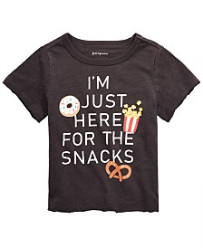 First Impressions Baby Boys Here for the Snacks Graphic Cotton T-Shirt, Created for Macy's