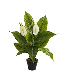 """26"""" Spathiphyllum Artificial Plant (Real Touch)"""