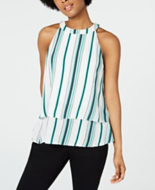 BCX Juniors' Striped Tiered Blouse