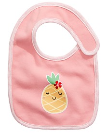 First Impressions Baby Girls Pineapple Bib, Created for Macy's