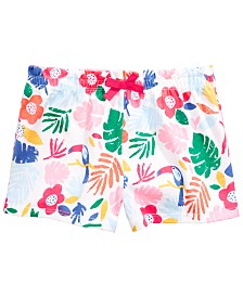 First Impressions Baby Girls Tropical-Print Cotton Shorts, Created for Macy's