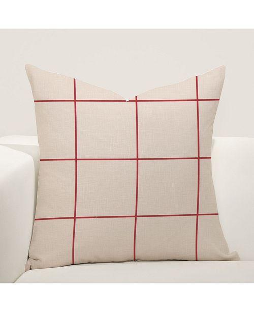 "Siscovers Quadrant 16"" Designer Throw Pillow"