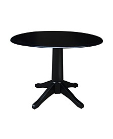 "International Concept 42"" Round Dual Drop Leaf Pedestal Table"