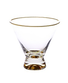Classic Touch Set of 6 Dessert Cups with Base and Rim