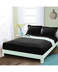 Silky Soft Single Fitted Sheet Full Black