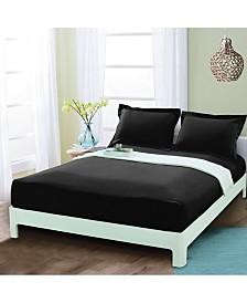 Elegant Comfort Silky Soft Single Fitted Sheet Full Black