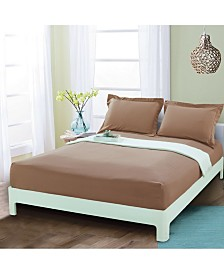Elegant Comfort Silky Soft Single Fitted Set Queen Taupe