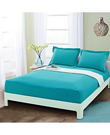 Elegant Comfort Silky Soft Single Fitted Set Queen Turquoise