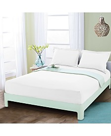 Elegant Comfort Silky Soft Single Fitted Set King White