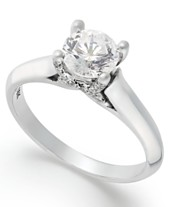 64870feb6 X3 Certified Diamond Solitaire Engagement Ring in 18k White Gold (1 ct.  t.w.)