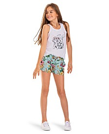 Rainbow Shower Disney Casual Short