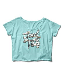Good Vibes Cropped Boyfriend Crew