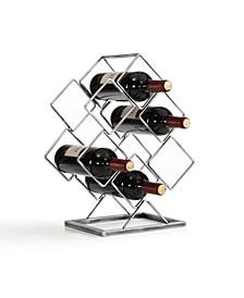Electroplated 6 Bottle Wine Rack