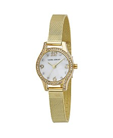 Laura Ashley Mini Gold Mesh Bracelet Watch