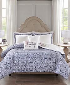 510 Design Elizabeth Full/Queen 5 Piece Reversible Print Duvet Set