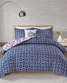 510 Design Amari King/California King 5 Piece Reversible Print Comforter Set
