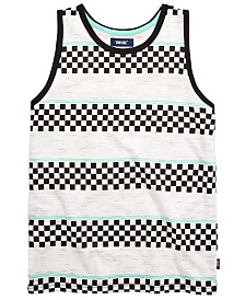 Univibe Big Boys Aaron Checker Stripe Tank