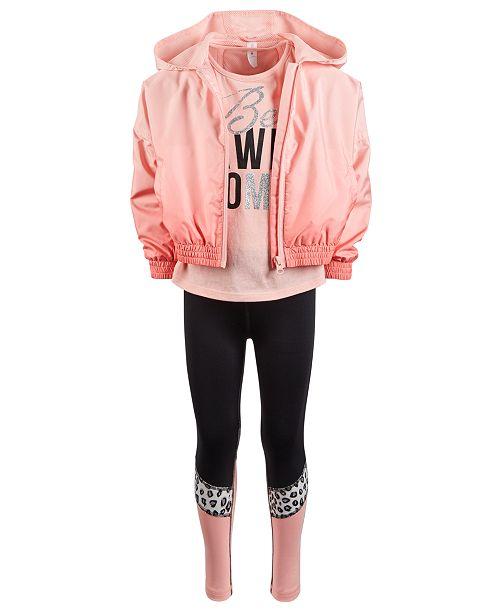 Ideology Toddler Girls Windbreaker, T-Shirt & Leggings, Created for Macy's