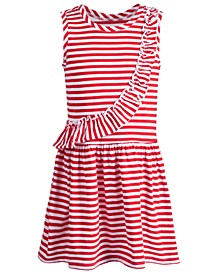 Toddler Girls Striped Ruffled Dress, Created for Macy's