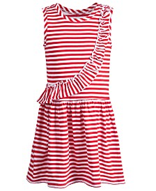 Epic Threads Little Girls Striped Ruffled Dress, Created for Macy's