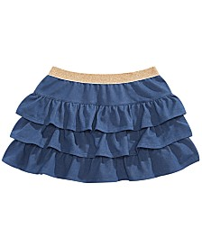 Epic Threads Little Girls Tiered Ruffle Denim Skirt, Created for Macy's