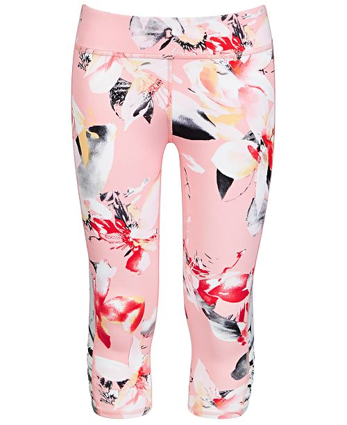 Ideology Big Girls Cage Capri Leggings, Created for Macy's