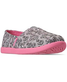Skechers Little Girls' Lil' BOBS Solstice 2.0 - Friends Fur-Ever Slip-On Casual Sneakers from Finish Line