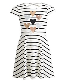 Epic Threads Little Girls Striped Hearts Dress, Created for Macy's