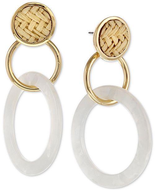 Laundry by Shelli Segal Gold-Tone Triple Drop Earrings
