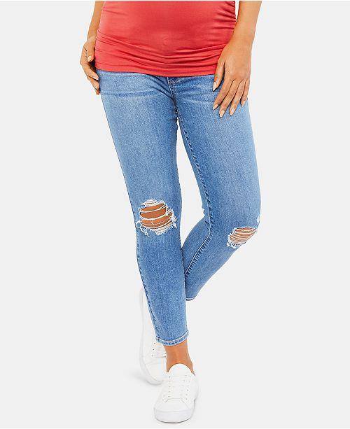 Paige Denim Maternity Cropped Skinny Jeans
