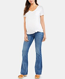 7 For All Mankind Maternity Flared-Leg Jeans