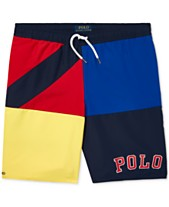 0353771fcd Polo Ralph Lauren Big Boys Colorblocked Swim Trunks