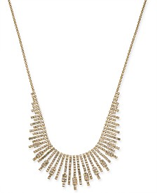 "I.N.C. Gold-Tone Crystal Starburst Statement Necklace, 17"" + 3"" extender, Created for Macy's"