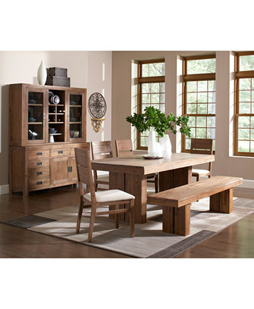 Image 4 Of Champagne Piece Dining Room Furniture Set Trestle Table