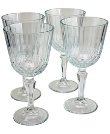 Diony 4 Piece 7.75 Ounce White Wine Glass Set