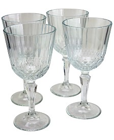 Pasabahce Diony 4 Piece 7.75 Ounce White Wine Glass Set