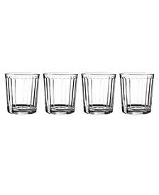 Pasabahce Optica 13 Ounce Double Old Fashioned Set In Clear, Set Of 4