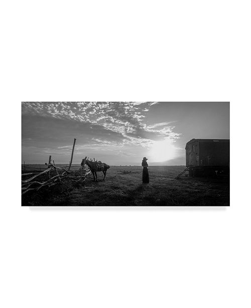 "Trademark Global Mikhail Potapov 'Woman And Horse' Canvas Art - 10"" x 19"" x 2"""