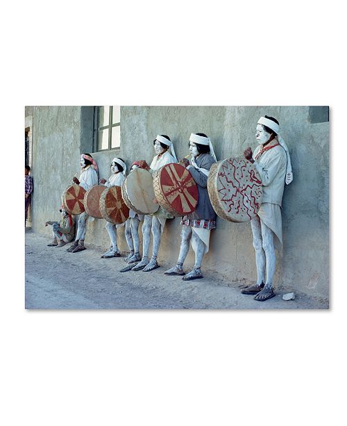 """Trademark Global Robert Harding Picture Library 'Masked Drummers' Canvas Art - 32"""" x 22"""" x 2"""""""