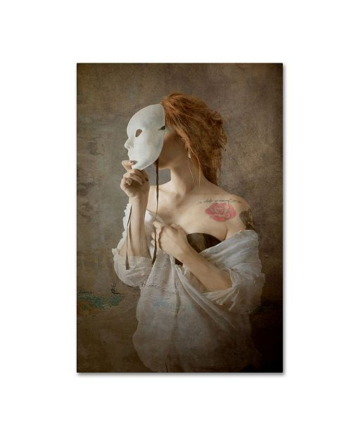 "Trademark Innovations Olga Mest 'Seeing Through The Mask' Canvas Art - 24"" x 16"" x 2"""