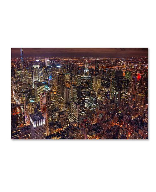 "Trademark Global Milton Mpounas 'Night Life' Canvas Art - 47"" x 30"" x 2"""