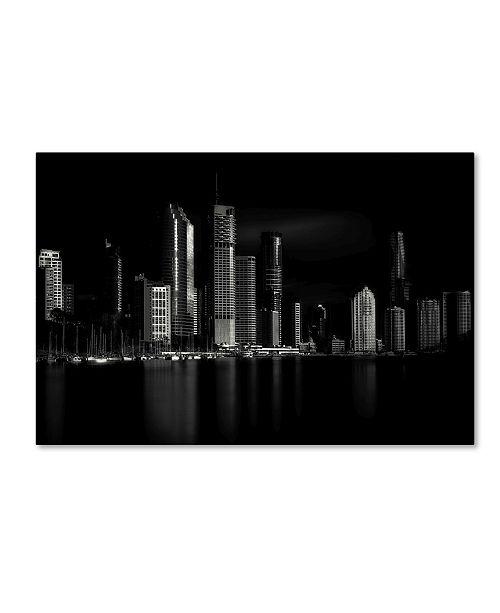 "Trademark Global Steven Fudge 'Brisbane City Of Light' Canvas Art - 19"" x 12"" x 2"""