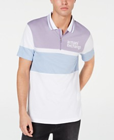 A|X Arrmani Exchange Men's Colorblocked Logo Polo