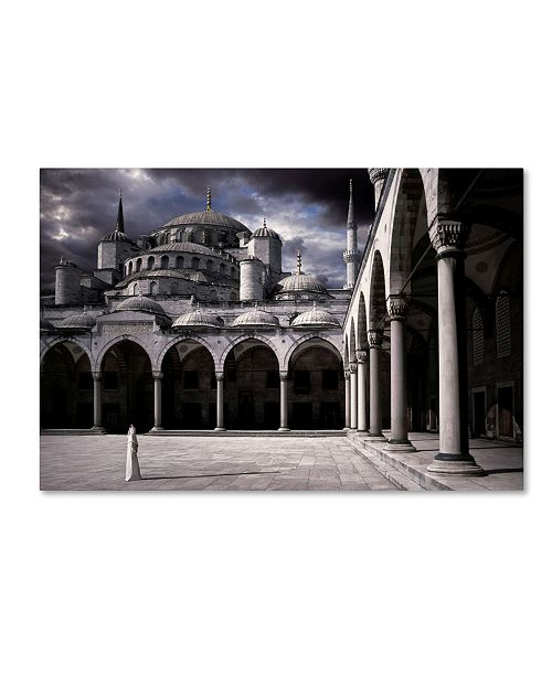 """Trademark Global Daniel Murphy 'Lady And The Mosque' Canvas Art - 19"""" x 12"""" x 2"""""""
