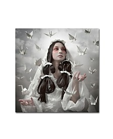 "Kiyo Murakami 'Goddess Of Origami' Canvas Art - 35"" x 35"" x 2"""