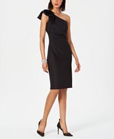 Jessica Howard One-Shoulder Bow Dress