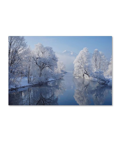 "Trademark Innovations Norbert Maier 'Coldest Morning' Canvas Art - 47"" x 30"" x 2"""
